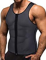 cheap -men waist trainer vest weightloss hot neoprene corset compression sweat body shaper slimming sauna tank top workout shirt (gray, xl)