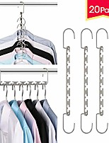 cheap -space saving hangers metal hanger magic cascading hanger closet clothes organizer(20 pack)