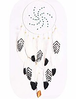 cheap -dream catcher, black white and gold feather begie dreamcatchers for kids baby wall hanging decor - dia 7.9 inch