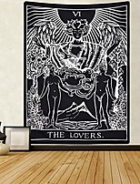 cheap -tarot cards tapestry the lovers tapestry, lovers stand under the tree tapestry black tapestry medieval europe divination tapestry for room