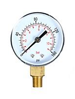 cheap -0160psi 011bar Dual Scale Mechanical Pressure Gauge Pool Filter Aquarium Water Air Gas Pressure Gauge Meter 1/8 inch NPT Bottom Mount