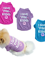 cheap -Dog Cat Shirt / T-Shirt Vest Quotes & Sayings Lips Simple Style Dog Clothes Puppy Clothes Dog Outfits Purple Red Blue Costume for Girl and Boy Dog Padded Fabric XS S M L
