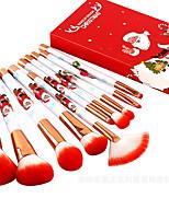 cheap -Merry Christmas 10pcs Christmas Makeup Brushes Set Portable Makeup Tools