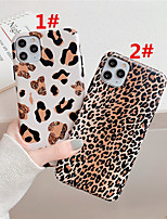 cheap -Case For Apple scene map iPhone 11 11 Pro Max XS Max leopard pattern matte TPU material IMD craft phone case