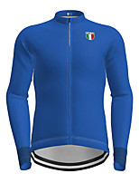 cheap -21Grams Men's Long Sleeve Cycling Jersey Black Blue Solid Color Bike Jersey Top Mountain Bike MTB Road Bike Cycling Quick Dry Sports Clothing Apparel / Micro-elastic