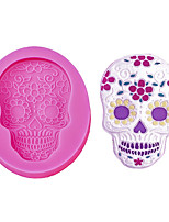 cheap -Halloween Party Halloween Angel Wings Food Grade Fondant Cake Silicone Mold Halloween Skull Shaped For Polymer Clay Chocolate Pastry Decoration Tools