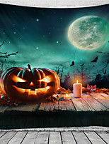 cheap -Halloween Wall Tapestry Art Decor Blanket Curtain Picnic Tablecloth Hanging Home Bedroom Living Room Dorm Decoration Psychedelic Pumpkin Bat Haunted Scary Polyester