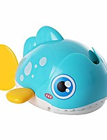 cheap -clockwork toy, cartoon whale eating fish swimming wind-up clockwork model kids bath shower toy gifts for kids random color