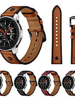 cheap -Watch Band for Samsung Galaxy Watch 46mm Samsung Galaxy Leather Loop Genuine Leather Wrist Strap