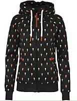 cheap -Women's Zipper Coat Regular Geometric Daily Basic Black Blue Green S M L