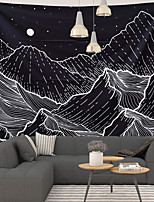 cheap -Wall Tapestry Art Decor Blanket Curtain Picnic Tablecloth Hanging Home Bedroom Living Room Dorm Decoration Polyster Sky Star Moon Mountain Peak Views
