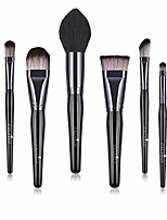 cheap -makeup brushes 8pcs makup brush set synthetic foundation powder brush concealers eyeshadow eyebrow blending brush kit conical wooden handle. & #40;black black& #41;