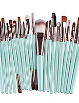 cheap -20 pcs makeup brush set tools make-up toiletry kit wool make up brush set& #40;coffee& #41;
