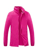 cheap -Women's Hiking Fleece Jacket Winter Outdoor Solid Color Waterproof Windproof Fleece Lining Breathable Jacket Fleece Hunting Ski / Snowboard Fishing Purple / Yellow / Red / Fuchsia / Blue / Quick Dry