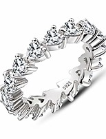 cheap -erllo 925 sterling silver zirconia heart shaped eternity band engagement wedding ring (9)