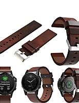 cheap -Watch Band for Fenix 5s / Fenix 5S Plus / Fenix6s Garmin Classic Buckle Genuine Leather Wrist Strap