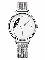 cheap -women simple mesh bracelet watch girl stainless steel band analog watches