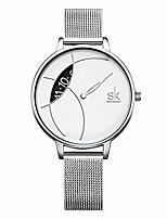 Недорогие -женские простые сетчатые часы с браслетом для девочек с ремешком из нержавеющей стали аналоговые часы