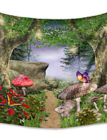cheap -Wall Tapestry Art Decor Blanket Curtain Picnic Tablecloth Hanging Home Bedroom Living Room Dorm Decoration Polyster Tree Mushroom Butterfly Path Views