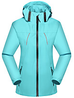 cheap -Women's Hiking Jacket Outdoor Thermal Warm Waterproof Windproof Breathable Top Spandex Hunting Fishing Climbing Rose Red / Light Blue / Camping / Hiking / Caving