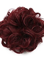 cheap -karlery short curly different colors bud ball wig updo chignon bun extensions scrunchy messy hair scrunchies hair pieces for women (118#)