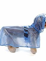 cheap -reflective dog raincoat with hood, waterproof pet blue rain coats for large dogs