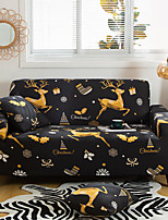 cheap -Christmas Elk Printed Sofa Cover Stretch Couch Cover Sofa Slipcovers for 1~4 Cushion Couch with One Free Pillow Case For Christmas Decoration