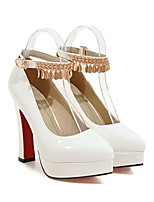 cheap -Women's Heels Wedge Heel Pointed Toe Classic Daily Solid Colored PU Camel / White / Black