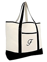 cheap -monogram bag personalized totes for women open top black letter f