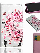 cheap -Case For LG Stylo 5 LG K61 LG K41S Wallet Card Holder with Stand Full Body Cases Tree Cat PU Leather TPU for LG K40S LG Q70 LG K30(2019) LG K40 LG K50