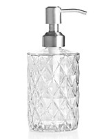 cheap -soap dispenser for kitchen, bathroom - refillable wash hand liquid glass bottle, clear jar with stainless steel pump, ideal for dish detergent, essential oil, shampoo lotion (clear)