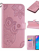 cheap -Case For Huawei Scene Map Huawei P Smart 2020 Y5P Y6P Owl Pattern Embossed Flip Leather Case PU Material Can Insert Card Leather Case Phone Case