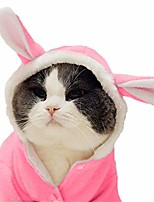 cheap -dog easter bunny costume pet rabbit hoodie adorable dog coat for small dog and cat (s)