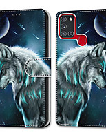 cheap -Case For Samsung Galaxy Note 20 Galaxy Note 20 Ultra Galaxy A21s Wallet Card Holder with Stand Full Body Cases Pensive Wolf PU Leather TPU for Galaxy A51 5G Galaxy A71 5G Galaxy S20 Ultra