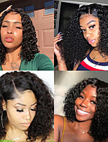cheap -Synthetic Wig Afro Curly Side Part Wig Short Long Black Synthetic Hair 65 inch Women's Fashionable Design Party Middle Part Black