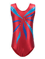 cheap -Rhythmic Gymnastics Leotards Gymnastics Suits Girls' Kids Dancewear Stretchy Handmade Sleeveless Training Rhythmic Gymnastics Artistic Gymnastics White