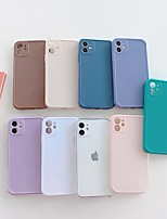 cheap -Case For Apple iPhone 11 Shockproof / Dustproof Back Cover Solid Colored TPU For Case iphone 11 Pro/11 Pro Max/7/8/7P/8P/SE 2020/X/Xs/Xs MAX/XR