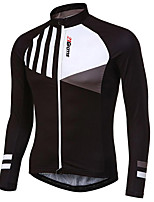 cheap -21Grams Men's Long Sleeve Cycling Jacket Black Dark Navy Novelty Bike Jersey Top Mountain Bike MTB Road Bike Cycling UV Resistant Breathable Quick Dry Sports Clothing Apparel / Stretchy