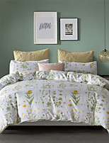 cheap -Green Floral Print Botanical 3 Pieces Bedding Set Duvet Cover Set Modern Comforter Cover Ultra Soft Hypoallergenic Microfiber and Easy Care(Include 1 Duvet Cover and 1 or2 Pillowcases)