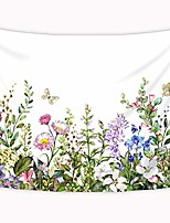 cheap -colorful floral plants tapestry wild flowers nature botanical sketch vintage gross butterfly green wall art hanging bedroom living room dorm 60x80 inches wall blankets home decor fabric