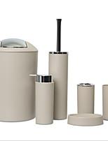 cheap -Bathroom Accessories Set 6 Pcs Toilet Brush Soap Dish Trash Can Toothbrush Cup Soap Dispenser Bathroom Accessory Set