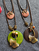 cheap -Choker Necklace Chains Long Necklace Women's Unique Design Trendy Romantic Boho Cute Cool Dark Green Coffee 80 cm Necklace Jewelry for Street Gift Daily Promise Festival / Charm Necklace