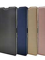 cheap -Case For Xperia XZ Premium X compact XP XZS XA Z5 Z5mini XA1 Sony L1 XZ1 COMPACT XA1 PLUS XA2 XZ2 Compact L2 XA2 Plus XA1 XZ2 Premium XZ3 Card Holder Flip Full Body Cases Solid Colored PU Leather TPU