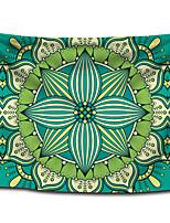 cheap -Wall Tapestry Art Decor Blanket Curtain Picnic Tablecloth Hanging Home Bedroom Living Room Dorm Decoration Polyester Bohemia Green Mandala Beauty Views