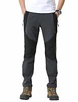 cheap -men outdoor soft shell waterproof thin fleece pants 68161 grey x-large