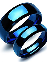 cheap -2 pcs stainless steel our love pure as the sea noble ocean blue couple rings wedding band