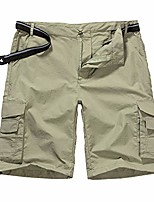 cheap -men's outdoor casual expandable waist lightweight water resistant quick dry cargo fishing hiking shorts (6013 khaki 36