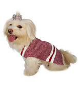 cheap -Dog Cat Sweater Vest British Classic British Casual / Daily Homewear Winter Dog Clothes Puppy Clothes Dog Outfits Warm Red Gray Costume for Girl and Boy Dog Fleece Cotton XS S M L XL