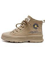 cheap -Boys' / Girls' Boots Combat Boots Pigskin Little Kids(4-7ys) / Big Kids(7years +) Walking Shoes Black / Khaki Fall / Winter / Mid-Calf Boots