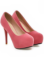 cheap -Women's Heels Stiletto Heel Round Toe Classic Daily Solid Colored PU Red / Blue / Pink
